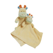 Cuddly toy and baby cuddly King Bear Cow - Yellow