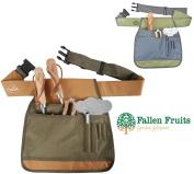 Fallen Fruits Garden Tools Tool Belt In Green & Brown Or Green & Grey