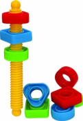 Gowi Toys Colourful Screwing Set For Babies, Toddlers Children - Construction