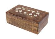 Handmade Wooden Keepsake Trinket Jewellery Box Storage Organiser With Floral