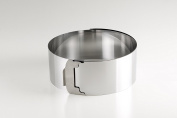 Baking Cake Ring Adjustable up to 30 cm Diameter Stainless Steel, Pack of 2