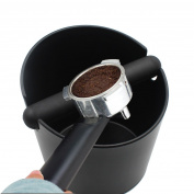 Yolococa Espresso Coffee Knock Box Container For Coffee Grounds Black