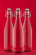 6 x 1 Litre Glass Bottles with Swing Tops - 1000ml - 100 cl Pack of 6 by slkfactory