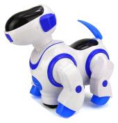 NMIT® Childrens i-Robot Puppy Dog, Flashing Light & Sound Bark- Singing, Dancing, Steering, Bump 'n' Go Robot Dog