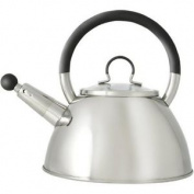 Ready Steady Cook Bistro Stainless Steel Stove Top Whistling Kettle With Glass L