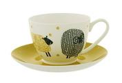 Ulster Weavers 10cm X 10cm X 10cm Dotty Sheep Cup & Saucer