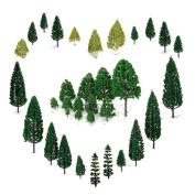 29pcs Mixed Model Trees 1.5-6 Inch4 -16 Cm, Orgmemory Ho Scale Trees, Diorama No