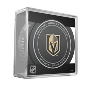 Las Vegas Golden Knights Sherwood Official NHL Game Puck in Cube