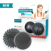 Dr. Frederick's Original HOT & COLD Massage Ball Set - Massage Balls for Feet - Back - Myofascial Release - Muscle Knots - Acupressure - Deep Tissue Massage - Plantar Fasciitis - Trigger Point Therapy