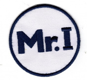 """TIGERS PATCH MIKE ILITCH """"MR. I"""" MEMORIAL PATCH ON-FIELD WHITE W/NAVY BLUE BACKGROUND BASEBALL PATCH"""