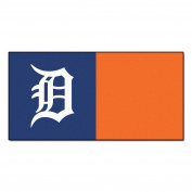 FANMATS MLB Detroit Tigers Nylon Face Team Carpet Tiles