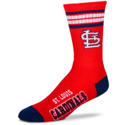 MLB 4 Stripe Deuce Crew Socks Mens-St. Louis Cardinals-Size Large