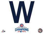 Chicago Cubs 2016 World Series W Flag Logo Photo