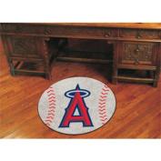 Fanmats Sports Team Logo MLB - Los Angeles Angels Baseball Mat
