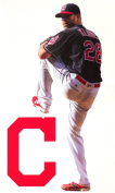 Corey Kluber Mini FATHEAD Cleveland Indians Logo Official MLB Vinyl Wall Graphics 18cm INCH