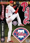 Cole Hamels FATHEAD Philadelphia Phillies Logo Set Official MLB Vinyl Wall Graphics 43cm INCH