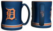 Detroit Tigers Coffee Mug - 410ml Sculpted Relief - Blue
