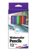 Pentel Arts Watercolour Pencil Set, 12 colour set