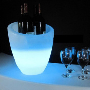 Illuminated LED Colour Changing Party Ice Bucket perfect for Wine and Champagne-Remote , white