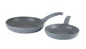 Russell Hobbs Bw03714db Stone Collection Aluminium 20/24 Cm Frying Pan Set,