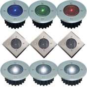 Solar Powered Led Deck Lights White Or Coloured Stainless Steel Decking Lights
