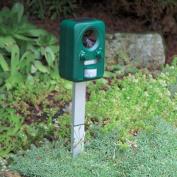 Infra-red Solar Ultrasonic Garden Pest Repeller - Cats Dogs Foxes Rats Deer Etc