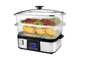 Puremate® Pm 10107 Digital Food Steamer With Rice Steamer Bowl - 12 Litres
