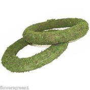 Mossed Padded Wreath Rings X 4. Very Easy To Use. 20cm