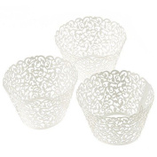 Erosion Cupcake Wrappers 100 Filigree Artistic Bake Cake Paper Cups Little Vine