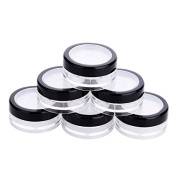 6 PCS 10g Portable Loose Powder Container Powder Puff Case Makeup Cosmetic Jars with Sifter Lids