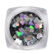 ECYC® 1 Box Shiny Glitter Love Heart Sequins Stickers Decals Nail Art Decoration