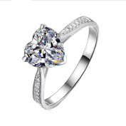 Hanie Herz Engagement Solitaire Ring adjustable Opening 925 Sterling Silver
