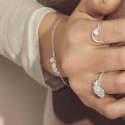 Pernille Corydon Women's Bracelet Multi Coin Link Bracelet with Round Charm Pendant Silver B007S