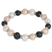 Lassiere Ladies Flex Bracelet Cultured Freshwater Cultured Pearl and Crystal Bracelet