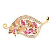 Alfredo Pauly Couture Jewellery reminiscent of French Designer Women Imitation Cat's Eye Crystal Floral Pin Brooch