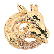 Alfredo Pauly Couture Jewellery reminiscent of French Designer Women Crystal Giraffe Brooch