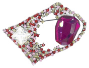 Brooch/Pendant with Purple Crystal and Grey