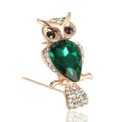 Tinksky Women Brooch Pins Crystal Rhinestone Owl Style Jewellery Gift Clothes Dress Decoration