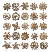 TOOKY 24pcs Mix Set Rhinestone Crystals Brooches Brooch Pin Wedding Bouquet Kit Wholesale Lot