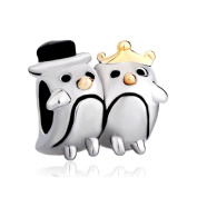 Uniqueen Couple Penguin Animal Charms Beads Cheap Sale Fit Pandora Charm Bracelets