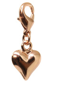 Rose Gold Puffed Heart Clasp Clip Charm by Black Moon - Compatible with Thomas Sabo and Links of London