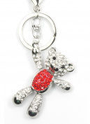 QUADIVA Bag Charm Teddy Fashion Bag Pendant for Woman key chain key ring embellished with crystals