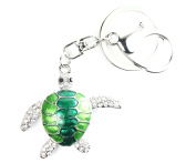 QUADIVA Bag Charm Turtle S2 Bag Pendant for Woman embellished with crystals