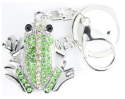 QUADIVA Bag Charm Frog Bag Pendant for Woman embellished with crystals