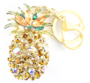 QUADIVA Bag Charm Pineapple Bag Pendant for Woman embellished with crystals