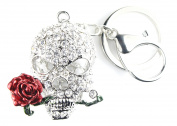 QUADIVA Bag Charm Skull Bag Pendant for Woman embellished with crystals