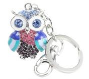 QUADIVA Bag Charm Colourful Owl key chain for woman key ring (colour