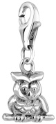 Nena Lina Charm Owl Pendant in 925 Sterling Silver Fit All Brands Charm 713110 Unisex