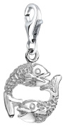 Nena Lina Charm Fish Pendant in 925 Sterling Silver Fit All Brands Charm 713214 Unisex