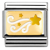 Nomination Composable Women's Charm Christmas Comet Star 18 K Gold Partially Gold-Plated Stainless Steel 030282/18